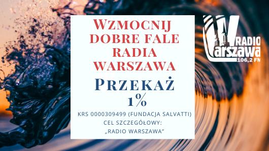 Wzmocnij dobre fale – przekaż Radiu Warszawa 1% podatku
